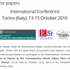 "International Conference ""The Relevance of Keynes to the Contemporary World. Eighty Years since The General Theory"" (Torino, 13-15 October 2016). Call for papers (young scholars)"